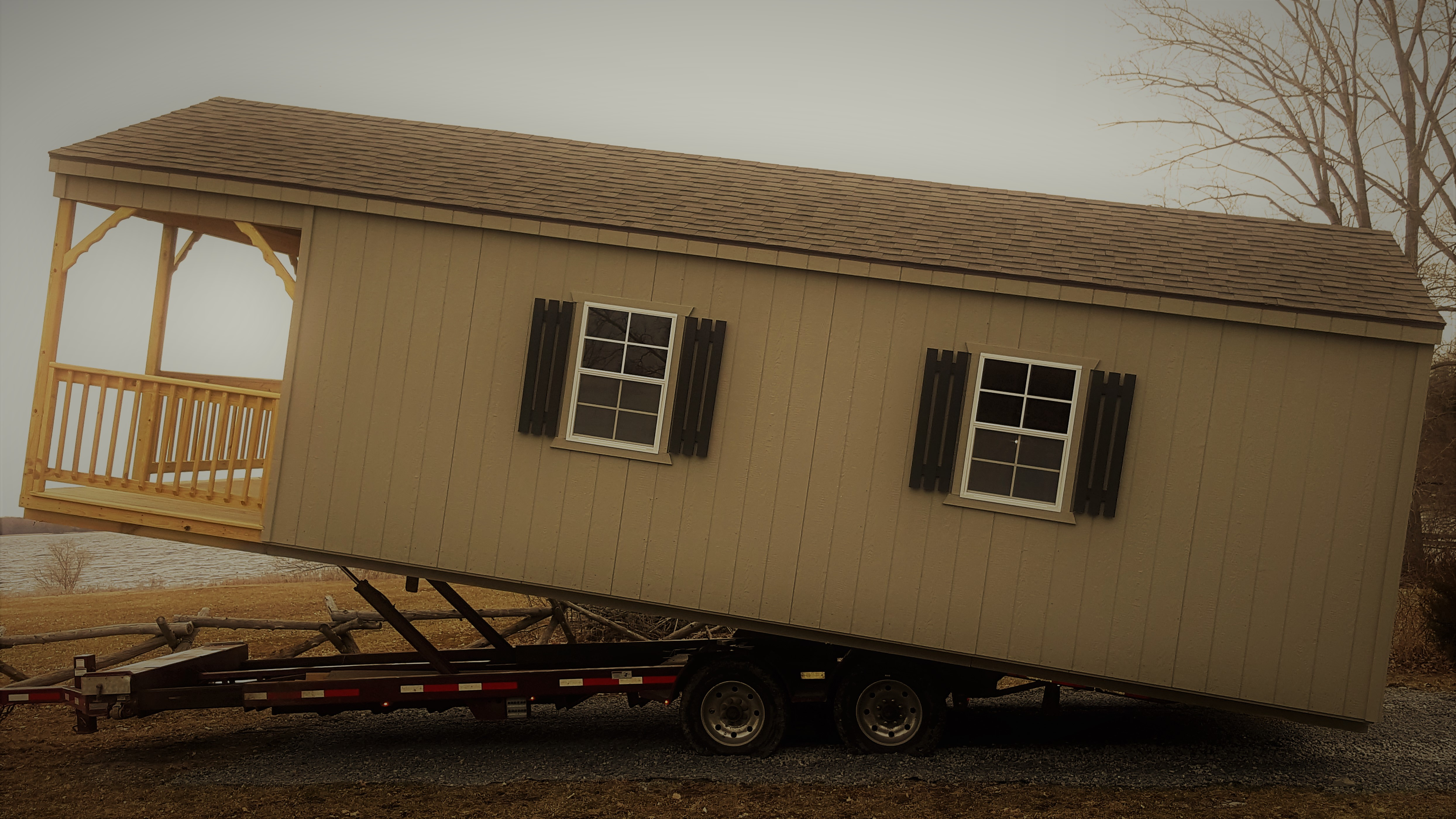 Cabin Style Shed Delivery