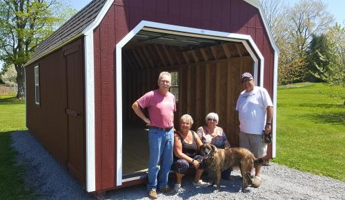 Ontario sheds highwall garage storage shed 12x24