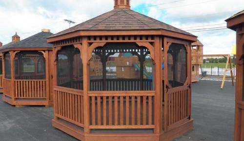 Gazebo-Wooden-Screened-Octagon-FORESTER