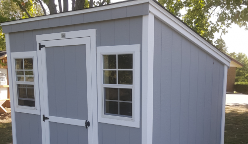 6x8 leanto shed with 2 windows