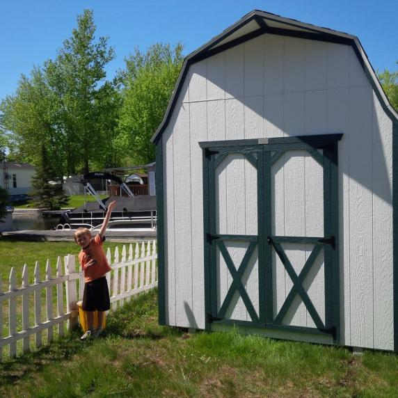 High wall gambrel roof storage shed better way sheds for Gambrel barn prices