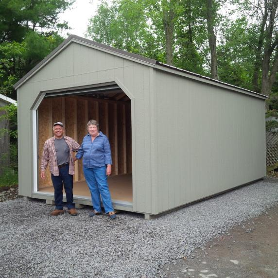 Gable roof garage style storage shed better way sheds for Garage roof styles