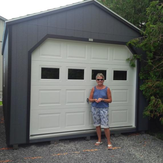 Gable roof garage style storage shed better way sheds for Gable style shed