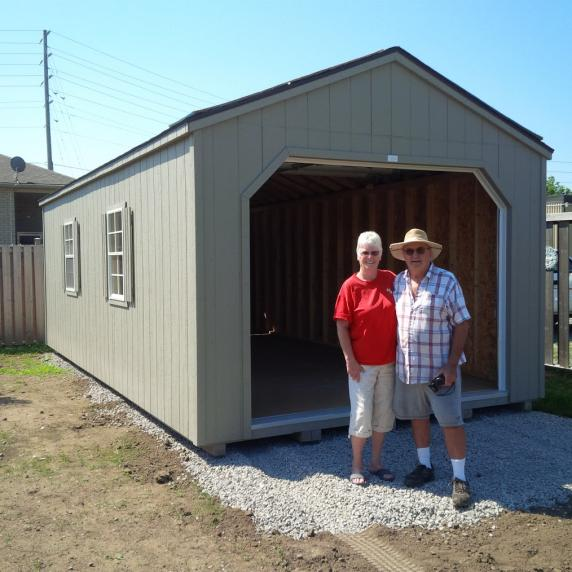 Gable roof garage style storage shed better way sheds for Gable roof garage