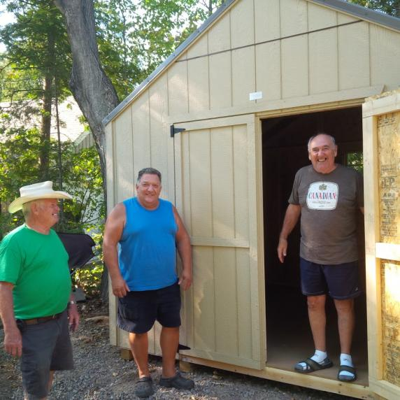 100sqft wooden storage Shed made in Canada tweed ontario