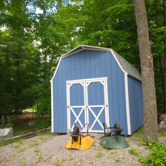 highwall gambrel barn style roof storage shed marmara ontario
