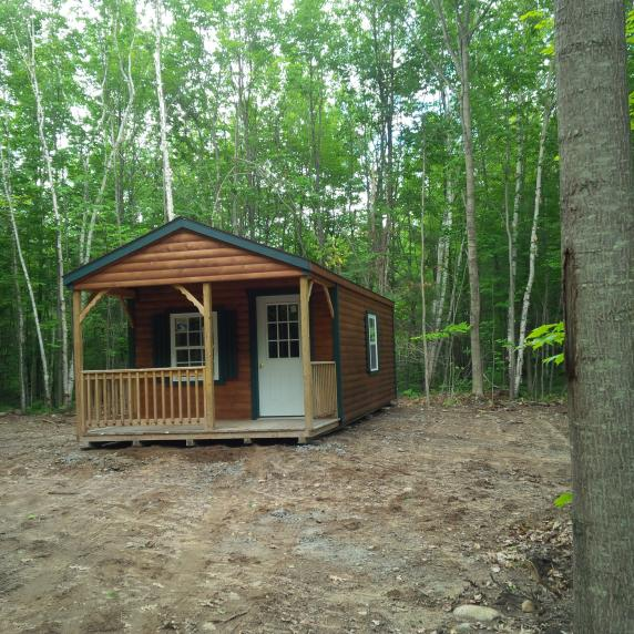 Seasonal Recreational Cabin Style Storage Shed sharbot lake ontario