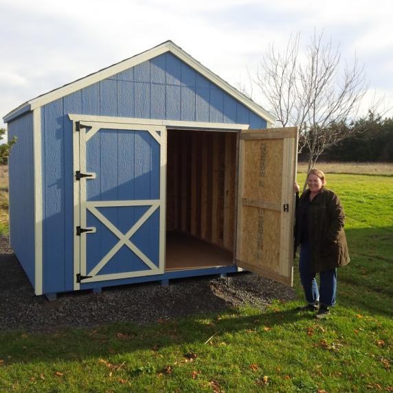 Cottage Style Wooden Storage shed
