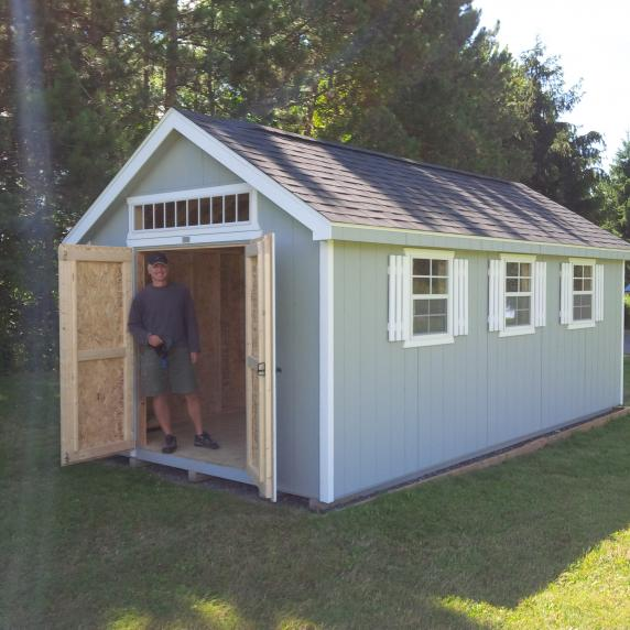 Cape Cod shed blue ontario