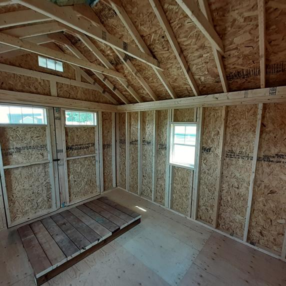 Cape Cod shed internal