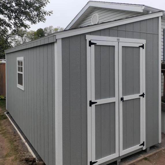 Lean-to style shed grey